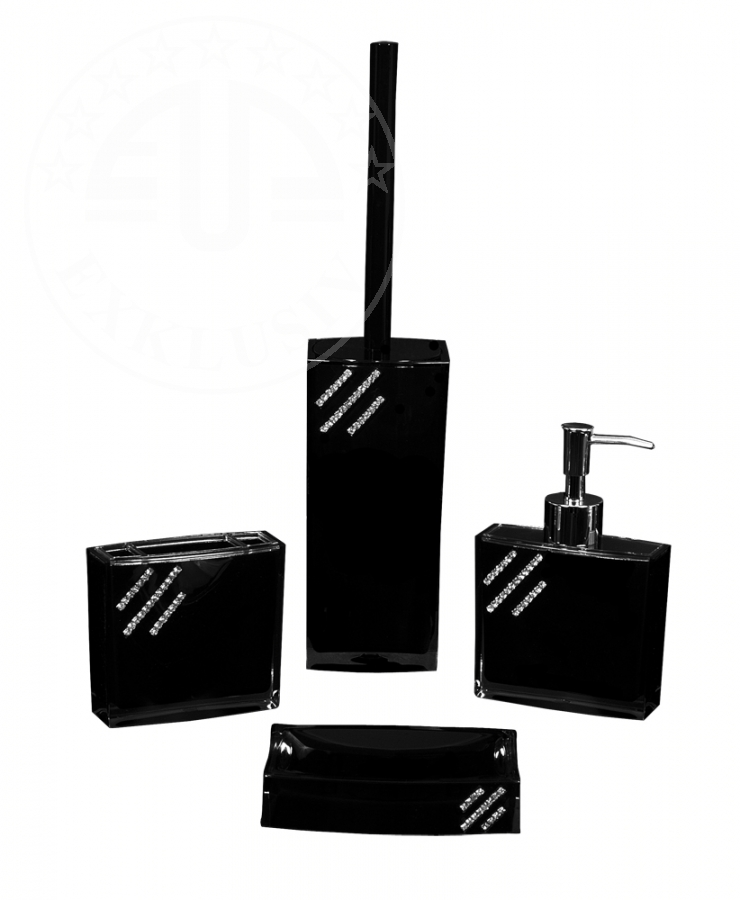 bad accessoire set 4 tlg schwarz euro price talay. Black Bedroom Furniture Sets. Home Design Ideas
